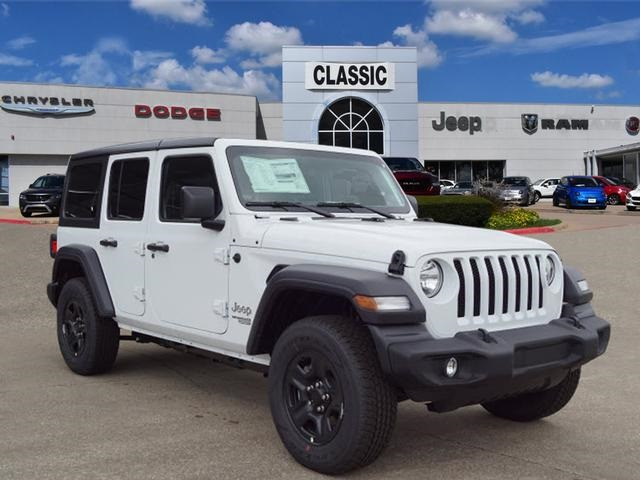Jeep Wrangler Unlimited Sport >> New 2019 Jeep Wrangler Unlimited Sport Sport Utility In Arlington