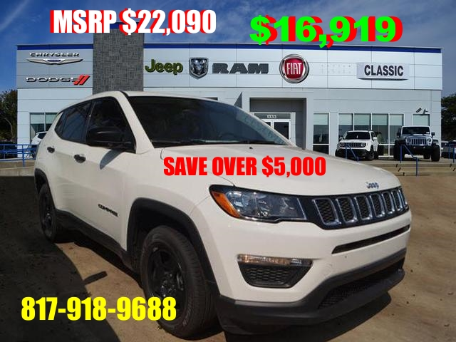Famoso New 2017 Jeep Compass Sport Sport Utility in Arlington #J647577  QB14